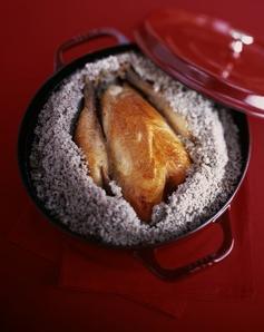 poulet croute de sel